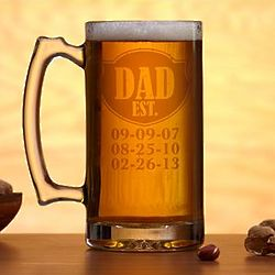 Personalized Established Oversized Beer Mug