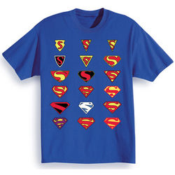 Superman Logo History T-Shirt