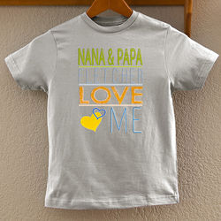 Somebody Loves Me Personalized Youth T-Shirt