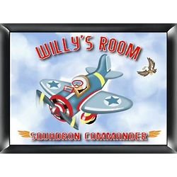 Personalized Airplane Pilot Children's Room Sign