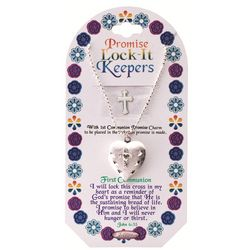 Heart Shaped First Communion Promise Locket