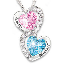 Every Beat of My Heart Personalized Birthstone Necklace