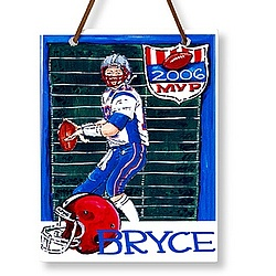 Personalized Name Plaque - Football