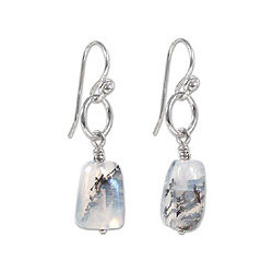 Secrets Opal Dangle Earrings