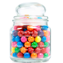 Personalized Love Is Sweet Glass Jar