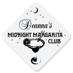 Personalized Midnight Margarita Hardboard Coaster Set
