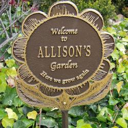 Personalized Garden Flower Garden Plaque