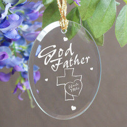 Godfather Personalized Oval Glass Ornament