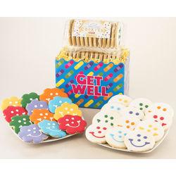 Get Well Flower Cookie Gift Basket