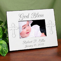 God Bless Personalized Christening Frame