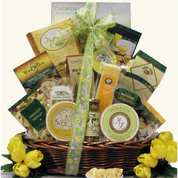 Tempting Easter Cheese Delights Large Gourmet Gift Basket