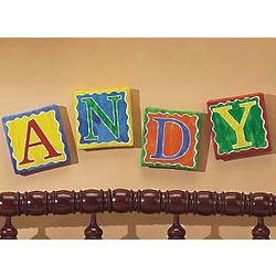 Personalized Primary Color Art Canvas Letters