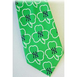 Irish New York Yankees Tie