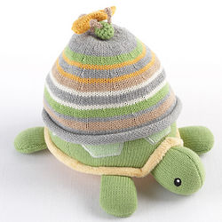 Turtle Toppers Yellow Hat and Turtle Plush Gift Set