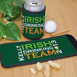 Personalized Irish Drinking Team Can Wrap Koozie