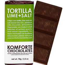 Tortilla Lime and Salt Chocolate Bar
