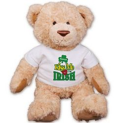 Personalized Kiss Me I'm Irish Teddy Bear