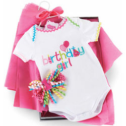 Birthday Girl Crawler Set
