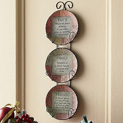 Inspirational Message Plates with Scrolled Rack