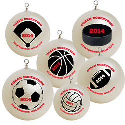 Personalized Coach Christmas Ornament
