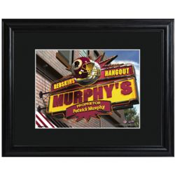 Personalized Washington Redskins Tavern Sign Print with Frame