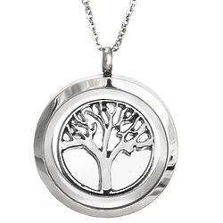 Tree of Life Round Build A Charm Floating Locket