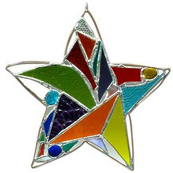Freestyle Stained Glass Star