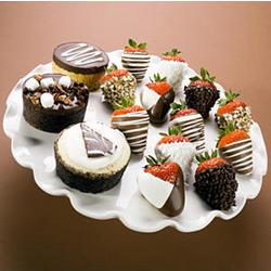 Cheesecake Trio & 12 Fancy Berries