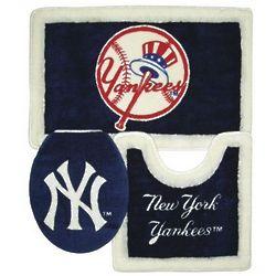 New York Yankees Bathroom Rug Set