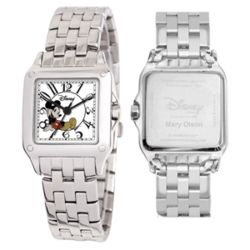 Disney Silvertone Perfect Square Mickey Mouse Watch