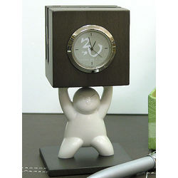 Kung Fu Kids Clock & Card Holder