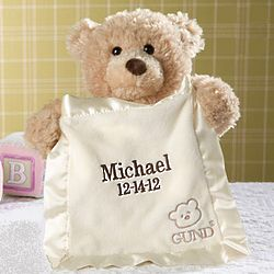 Personalized Peek-A-Boo Bear