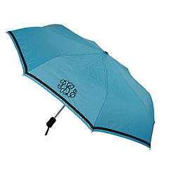 Personalized Umbrella with Brown Trim