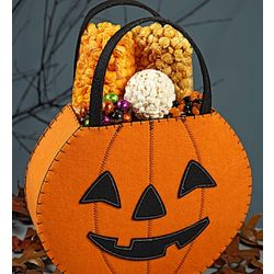 Jack-O-Lantern Tote Bag with Assorted Snacks