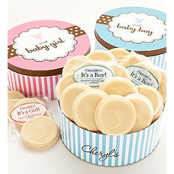 Sweet New Baby Boy Gourmet Cookie Tin