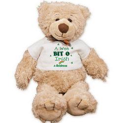 A Wee Bit o' Irish Personalized Teddy Bear