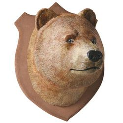 Faux Bear Head Trophy
