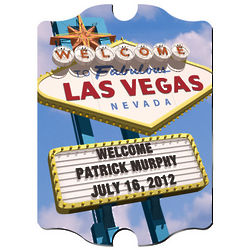 Personalized Las Vegas Daytime Vintage Sign