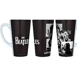 Beatles Let It Be Black and White Latte Mug