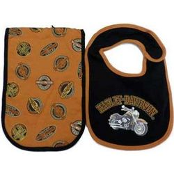 Harley Davidson Bib and Burp Set