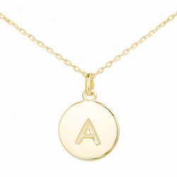 Will You Be My Bridesmaid Personalized Gold Initial Necklace