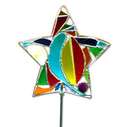 Stained Glass Star Lawn Ornament