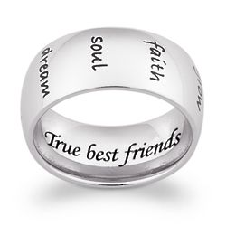 Stainless Steel Engraved Message Humanities Band