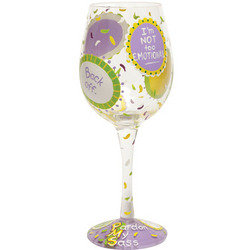 PMS Hand-Painted Wine Glass