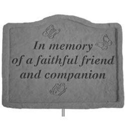 In Memory of a Faithful Friend Garden Plaque