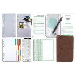 Portable Distressed Zip Binder Reference Solution Set