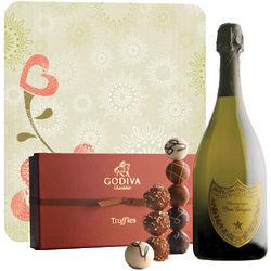 Dom Perignon & Godiva Truffles Champagne Romance