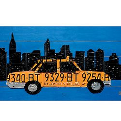 NYC Taxi License Plate Wall Art