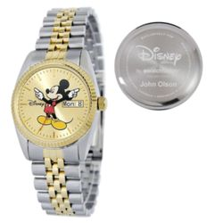 Personalized Men's Disney Mickey Mouse Watch