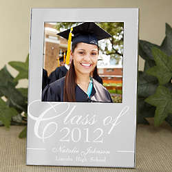 Graduation Class Engraved Silver Picture Frame